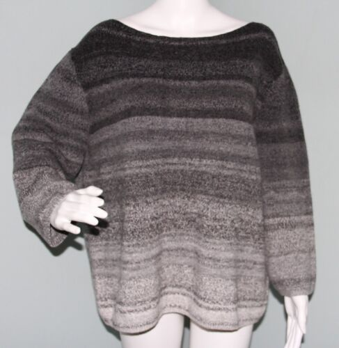 Grand Pull XL Womens Ombre Xl Entier Classiques Sz gris Dina rayé Nwt 439004135676 xFwB4q8t4