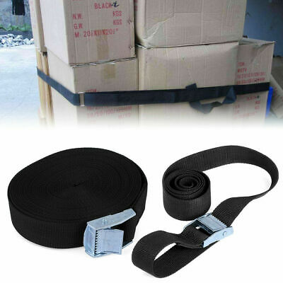 4x Heavy Duty 5m x 25mm Tie Down Straps 250kg Luggage Strap Cargo Cam Buckle