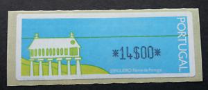 SJ-Portugal-Espigueiro-1991-House-North-Of-ATM-frama-label-stamp-MNH