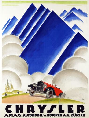 5447.Wall Decorative Poster.Chrysler.AMAG automobile.vintage red car.Room design