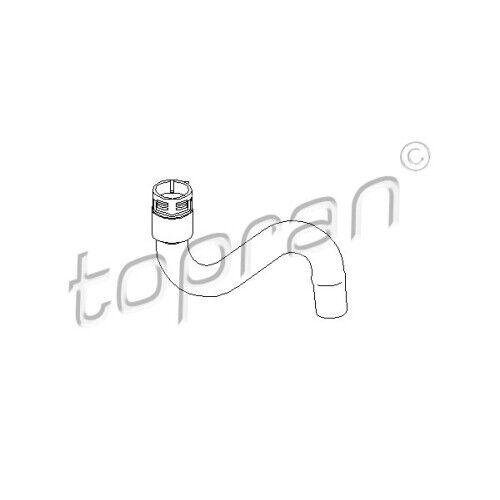 Original TOPRAN Tuyau De Radiateur Eau De Refroidissement Tuyau Haut Audi