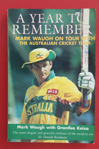 1 of 1 - *SIGNED FIRST EDITION* A YEAR TO REMEMBER by Mark Waugh (Paperback, 1997)