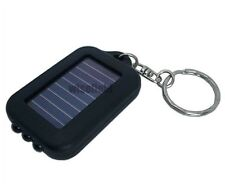1Pcs Mini Portable Solar Power 3 LED Camping Flashlight Torch Keychain
