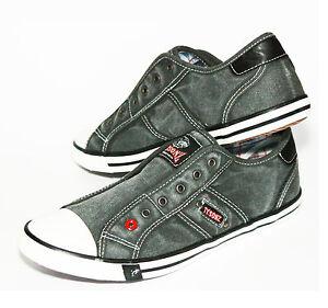 e48ddd13db9 Das Bild wird geladen NEU-Cotton-Canvas-Damen-Herren-Sneaker -Halbschuhe-ohne-
