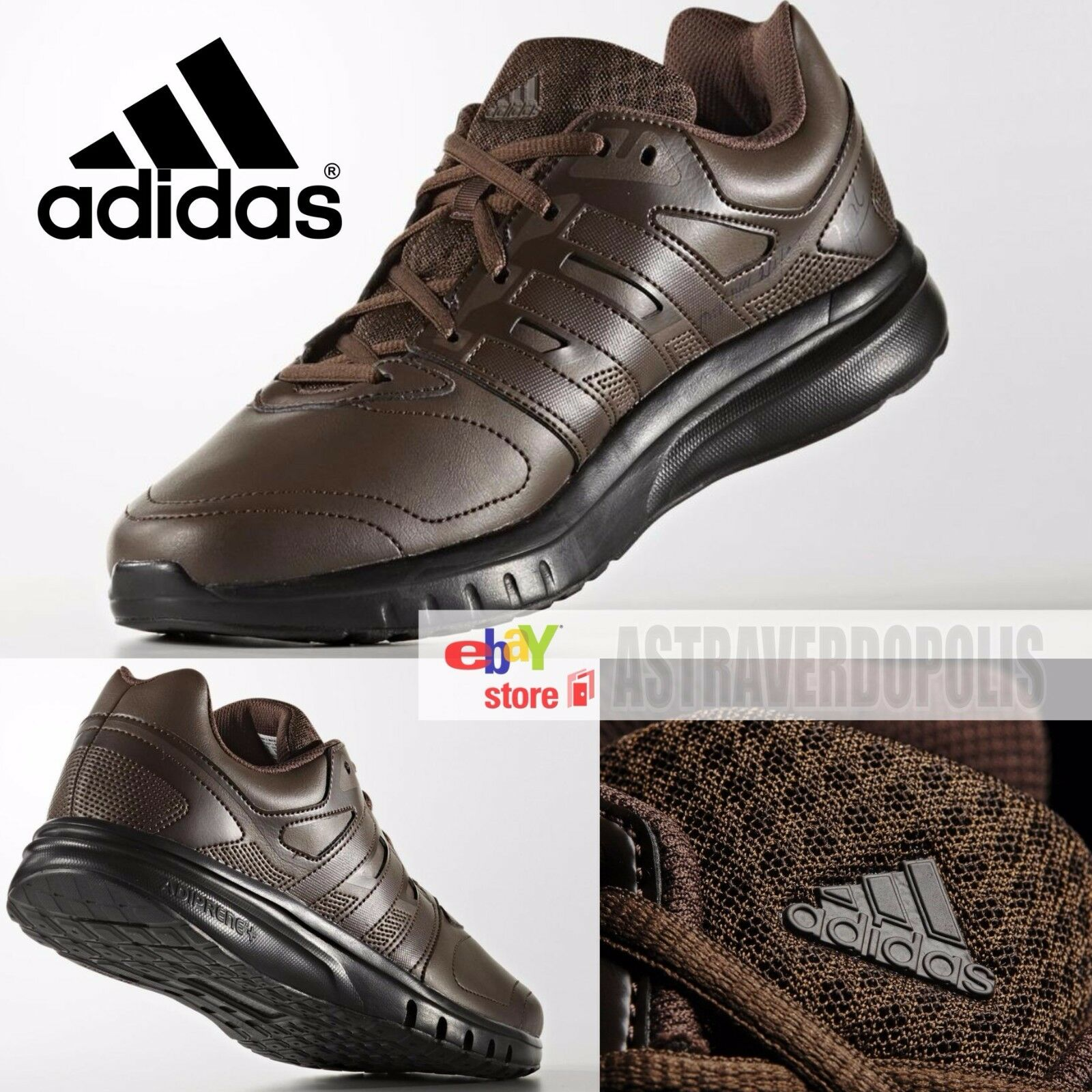 ADIDAS MENS SHOES BROWN GALAXY SPORT SUPERCLOUD HAMBURG BERN US 8 AQ2895