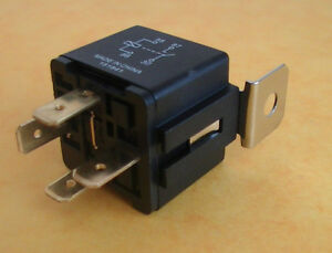 Automotive Relay 12V 40Amp 4 Pin Normally Open Bracket Genuine - Automotive Relay Normally Open