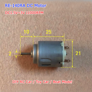 DC1.5V~3V 11000RPM RE-140RA Mini Small R140 Motor High Speed DIY RC Toy Car Boat