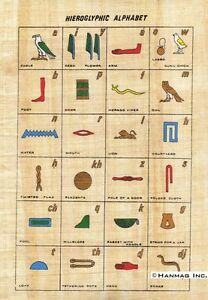 Egyptian-Papyrus-Painting-Hieroglyphic-Alphabet-8X12-034-Hand-Painted-97