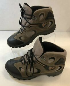 49c9f620 Details about Merrell Chameleon Mid Kids Waterproof Hiking Shoes Boots  Kangaroo Boa Grey Sz 5