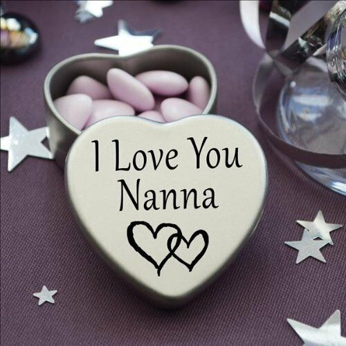 Beautiful Silver Heart Tin With Sweets Special Gift Present to say I Love You