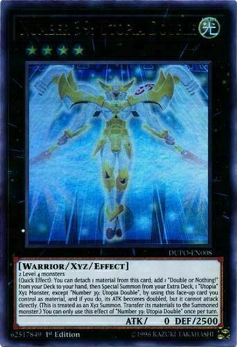 Yugioh | Number 39: Utopia Double - DUPO-EN008 - Ultra Rare 1st Edition NM