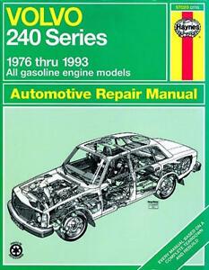 repair manual book volvo 240 wagon sedan owners b230 ebay rh ebay com haynes manual volvo 240 pdf manual swap volvo 240