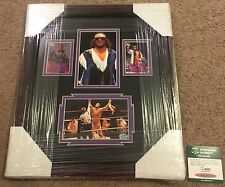 "RANDY ""MACHO MAN"" SAVAGE SIGNED AUTOGRAPHED FRAMED & MATTED  DISPLAY SGC AUTH"