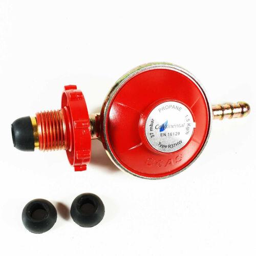 Compact Propane Gas Regulator Caravan Motorhome 37mbar - Fits Calor Gas Bottles