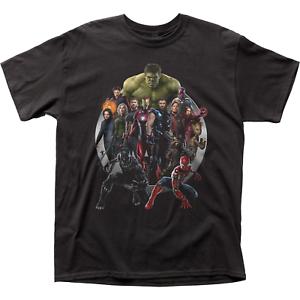 Sz Sm Med Avengers Infinity War Hero Ensemble Cast Marvel Studios Movie Shirt