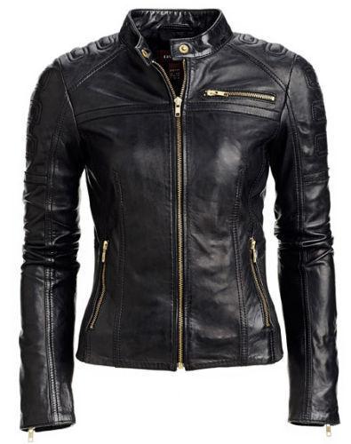 Slim Real Fit Biker Leather ægte Motorcykel Jacket Kvinders Lambskin Wnns Hed xP4nSfwYqn