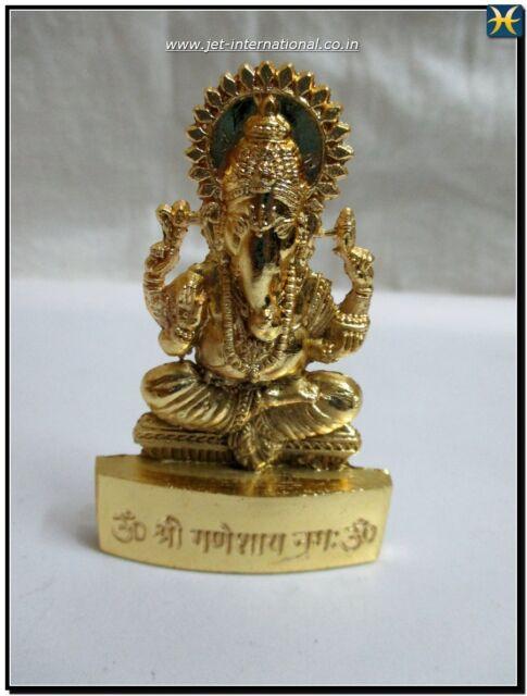 "Lord Ganeshji 2.75"" Statue Auspicious Hindu Religious Brass Altar Meditation"