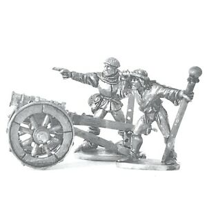 Light-Gun-With-2-Crew-28mm-Unpainted-Metal-Wargames