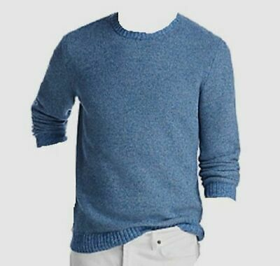 $185 Bloomingdales Men/'s Blue Textured Cotton Crewneck Sweatshirt Sweater XL