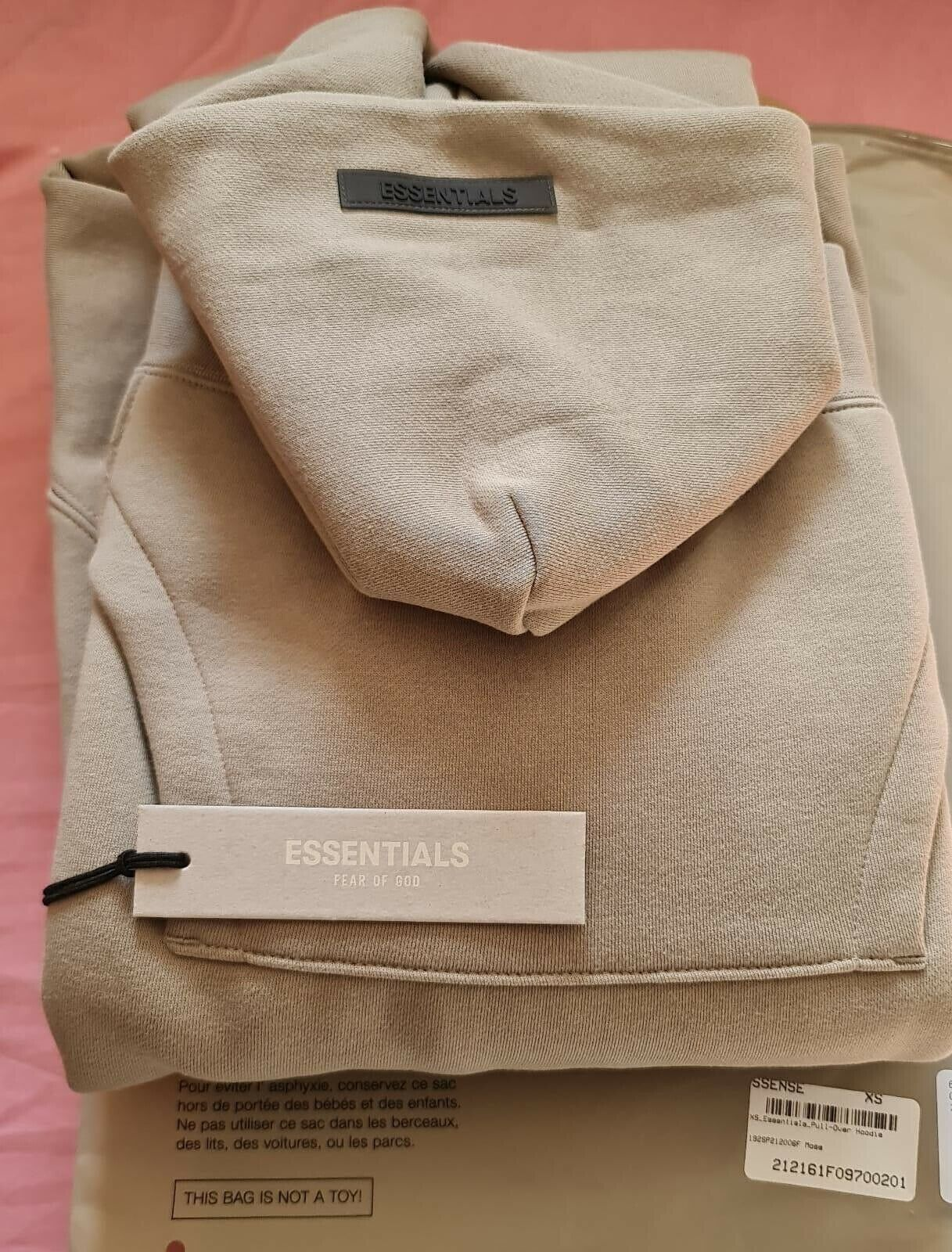 🔥Fear Of God Essentials 2021 Moss/Grey Hoodie Size Small🔥