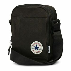 Converse-Neuf-Homme-Coeur-Polyester-Sac-Bandouliere-Noir-Neuf