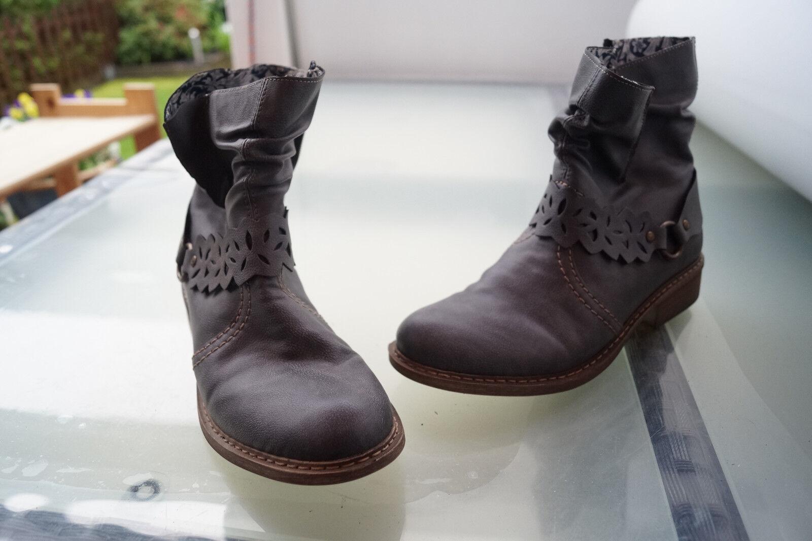 Tiempo limitado especial Enviaré rieker zapatos señora botas botas botines ligeramente nuevo M