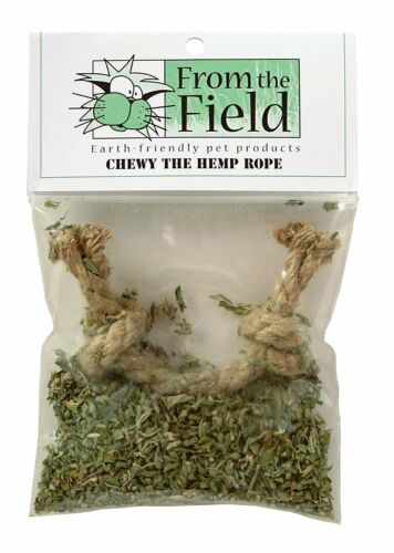 FROM THE FIELD ORGANIC CATNIP CHEWY THE HEMP ROPE TEETHING. TO THE USA