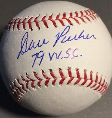 Sports Mem, Cards & Fan Shop Balls Dedicated Dave Parker Pittsburgh Pirates Wsc 79 Signed Oml Baseball We Take Customers As Our Gods