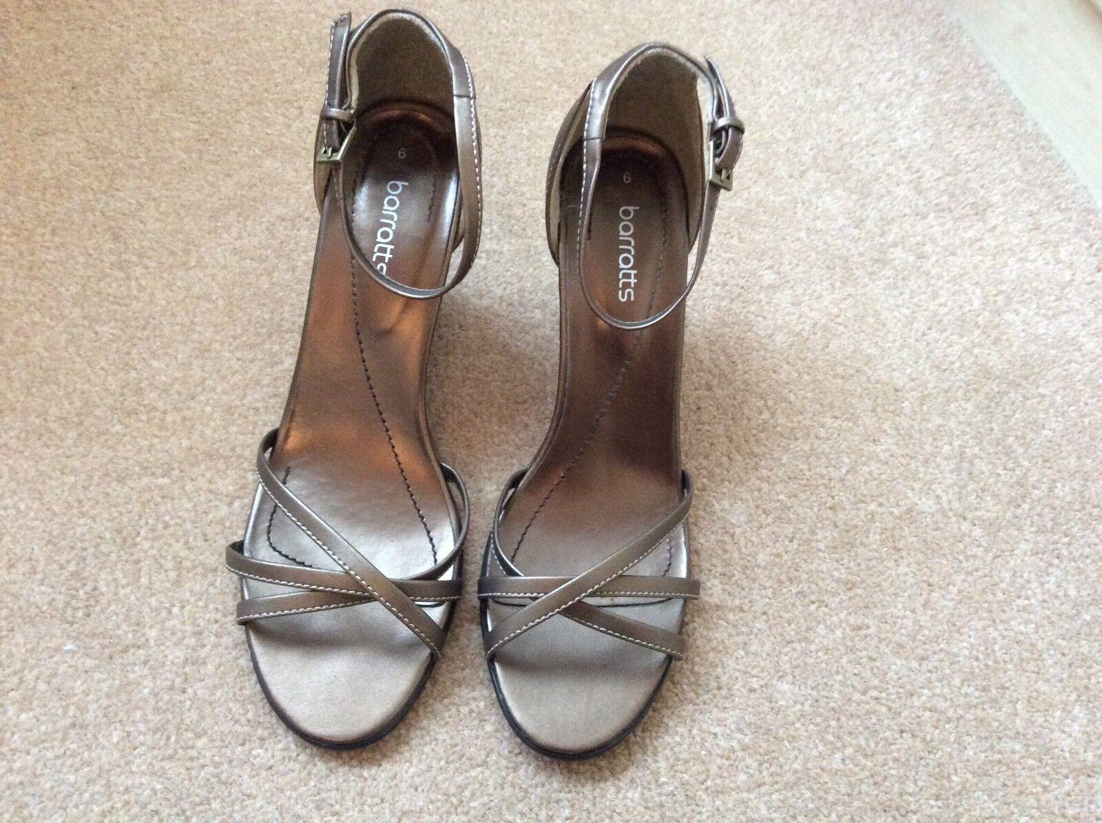 Barrett's wedge size heel sandals in bronze size wedge 6 6e822f