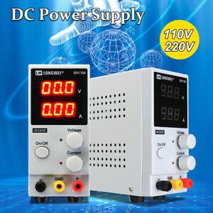 Adjustable-0-30V-0-10A-110-220V-DC-Power-Supply-Precision-Variable-Digital-Lab