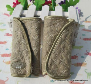JJ Cole Khaki Reversible Baby Strap Covers