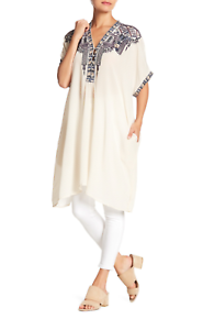 NWT-JOHNNY-WAS-Embroidered-WISHMOR-SILK-TUNIC-Embroidered-BIYA-Dress-M-325