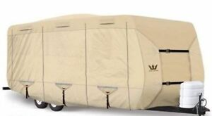 S2-Expedition-Premium-Travel-Trailer-RV-Cover-fits-29-039-30-039-Length-TAN