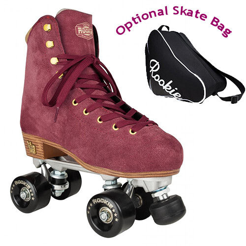 New Rookie Classic Suede Quad Roller S s with Optional  Bag  big sale