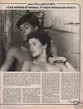 Coupure de presse Clipping 1978 Jean Pierre Bouvier  (1 page) & Sylvia  Kristel
