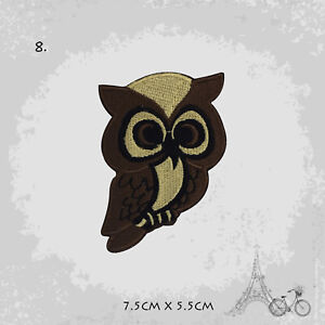OWL Patch Iron On Patch Sew On Embroidered Patch