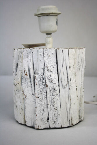 Lampen Fuss Ständer Holz Baumrinde H25cm D15cm Landhausstil Leuchte
