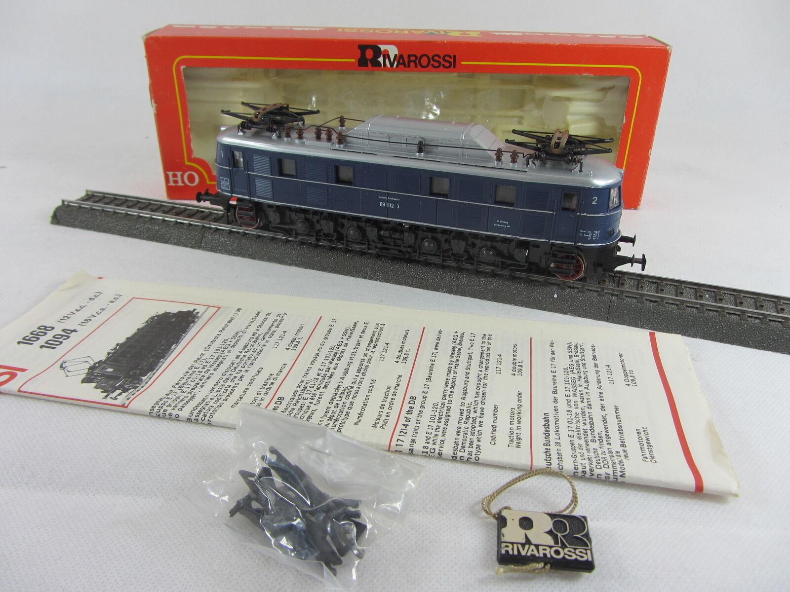 Rivarossi 1095 gasóleo 119012-3 de la DB en azul buen estado con embalaje original