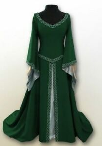 Costume-Cosplay-Medieval-Renaissance-Women-039-s-Vintage-Gown-Dress-Halloween-Party