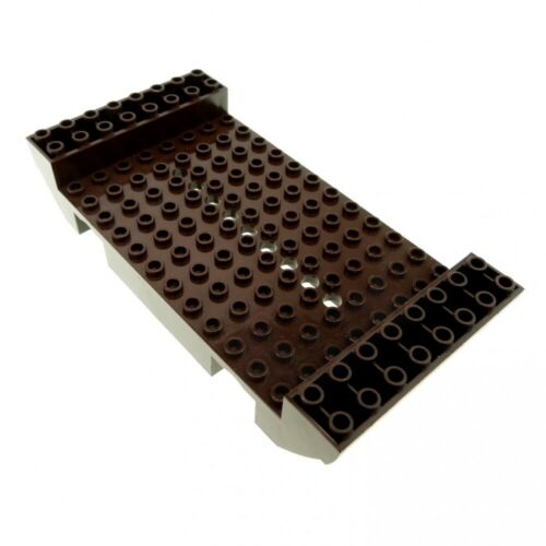 1 x Lego System Boot Rumpf dunkel braun 8x16x2 1//3 mit 9 Löchern Piraten Wikinge