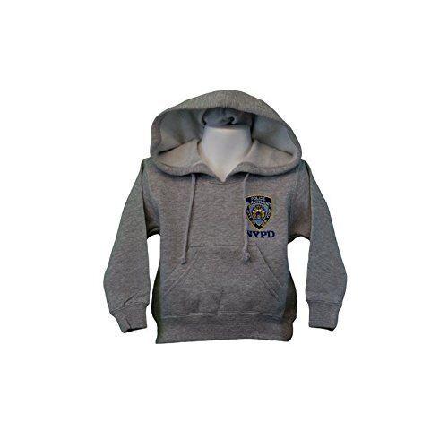 NYPD Kids Hoodie Embroidered Sweatshirt Gray