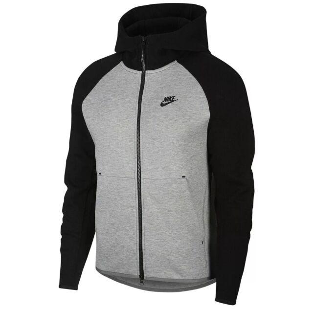 Nike Tech Fleece Full Zip Hoodie Mens 928483 064 Black Dark Grey Hoody Size 2xl For Sale Online Ebay
