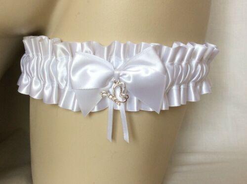 White Theme Charm Garter Wedding Hen Bachelorette Valentine Bride Sparkly Bling