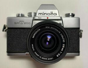 Minolta SRT200 CLC w/ MD Minolta Celtic 28mm f/2.8 Lens ~TESTED!~