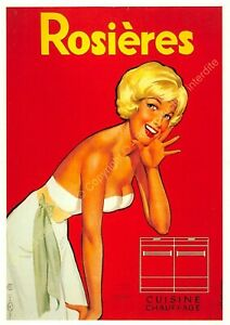 CP Poster Advertising Kitchen Heating Rosieres Edit Nugeron J90
