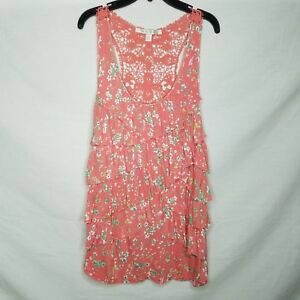 LC-Lauren-Conrad-Tank-Top-Floral-Tiered-Ruffle-Crochet-Back-Size-L-R425P