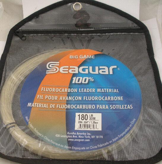 Seaguar 180FC30 líder de fluorocarbono invisible material de prueba 180LB 30M 15224