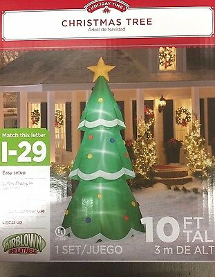 Christmas Tree Inflatables.Christmas Tree Giant Airblown Inflatable 10 Ft Gemmy Jumbo Holiday Decor 86786132777 Ebay