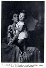 k.k.Erzherzogin Elisabeth Fürstin zu Windischgrätz mit Töchterchen 1911