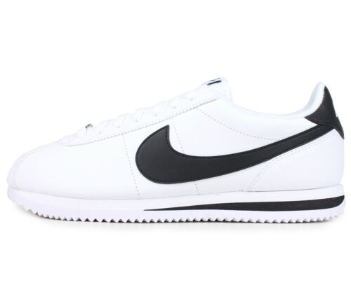 Nike Cortez Leather White Black Men/'s Size New In Box 100/% Original